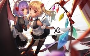 Picture Wallpaper, Girls, vampire, Anime, maids