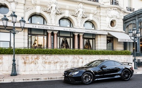 Picture the city, black, tuning, Mercedes, Benz, Mercedes, AMG, AMG, SL65