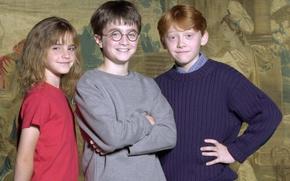Wallpaper Harry Potter, actors, Emma Watson, Emma Watson, Daniel Radcliffe, Harry Potter, Daniel Radcliffe, Rupert Grint, ...