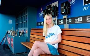 Picture skirt, cheerleader, El Fanning, Elle Fanning, actress, legs