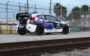 Picture ford, fiesta, 2013, T.Foust, global-rallycross