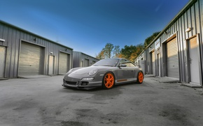 Picture Porsche, grey, GT3, wrap, gloss