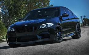 Picture the sky, black, posts, bmw, BMW, black, the front, f10