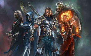 Picture fire, sword, warrior, Heroes, MAG, vampire, axe, barbarian