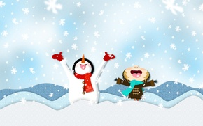 Picture winter, snow, snowflakes, mood, mood, holidays, new year Christmas