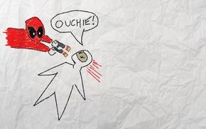 Picture figure, murder, Deadpool, Marvel, Deadpool, movie, comics, Marvel