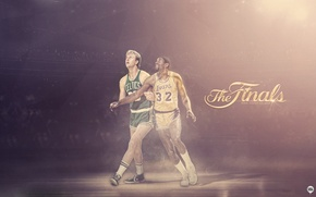 Picture Sport, Basketball, Boston, Los Angeles, NBA, Lakers, Celtics, Larry Bird, Legends, Magic Johnson, Earvin Johnson, …