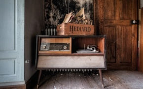 Picture radio, player, records, receiver