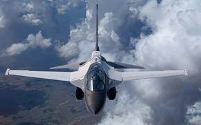 Wallpaper flight, the plane, Lockheed Martin, combat training, T-50A