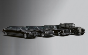Wallpaper mercedes-benz, retro, limousine, cars