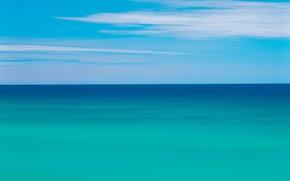 Wallpaper sea, 151, clouds, Horizon