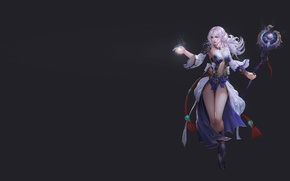 Wallpaper fantasy, staff, girl, character, MAG, art, magic, the game