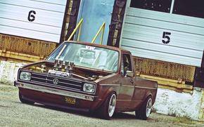 Picture volkswagen, pickup, rabbit, Volkswagen, pickup