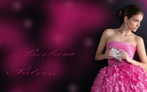 Picture the inscription, model, dress, beauty, Barbara Palvin, Barbara Palvin