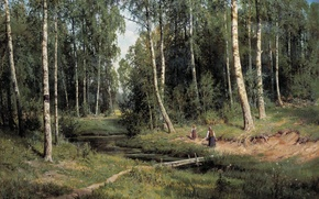 Picture picture, Stream, Shishkin, forest, in Berezovo
