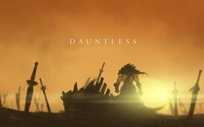 Picture art, swords, Dota 2, Juggernaut, Yurnero, Nine-Bullet-Revolver, Dauntless