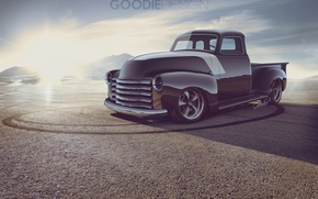 Picture Auto, Chevrolet, Desert, Truck, Chevrolet, 1954, Pickup, 3100, Goodie Design