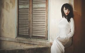 Picture look, girl, face, model, hair, Asian, sitting, Natasha Beo