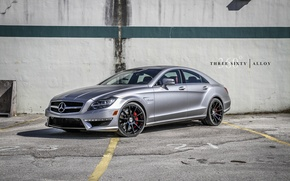 Picture Wallpaper, silver, Mercedes, Mercedes, high resolution, CLS63
