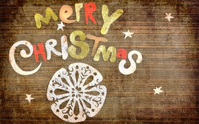 Picture paper, letters, holiday, the inscription, Christmas, vintage, stars, vintage, snowflake, congratulations, Merry Christmas