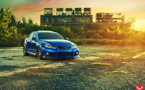 Picture lexus, blue