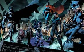 Picture fantasy, Batman, comics, Robin, Superman, superhero, superheroes, costume, DC Comics, Catwoman, Batman hush