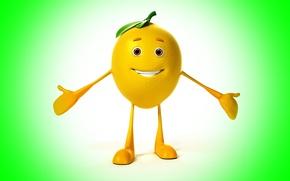Wallpaper smile, background, lemon, lemon, smile, background