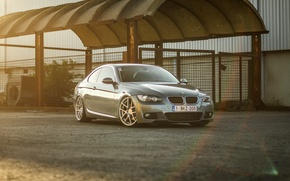 Picture BMW, BMW, silver, wheels, silver, E92, frontside