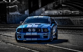 Picture White, Street, XIX, Stripes, MUSTANG, FORD, X33