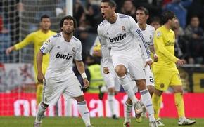 Picture Cristiano Ronaldo, Real Madrid, Marcelo, Mary, 2010-2011