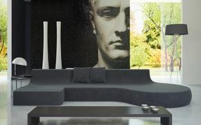 Picture design, style, room, Villa, interior, living room