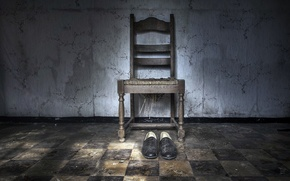 Picture background, shoes, chair