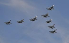 Wallpaper fighters, the sky, flight