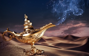 Picture background, patterns, desert, lamp, drawings, magic