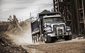 Wallpaper truck, Granite, quarry, Mack