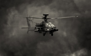 "Picture flight, smoke, helicopter, Apache, shock, AH-64, main, ""Apache"""
