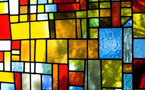 Picture glass, colorful, abstract, stained glass, glass, background, window, stained