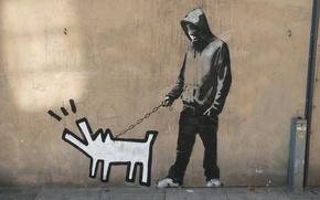Picture Graffiti, Banksy, Haring dog