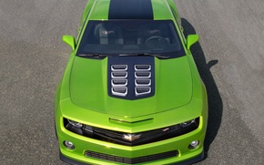 Picture green, Chevrolet, the concept, Camaro, the front, Camaro, Hot Wheels