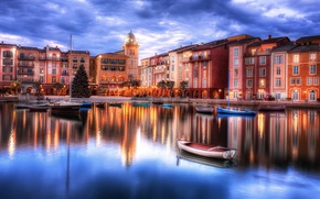 Picture water, home, boats, the evening, yacht, FL, tree, architecture, Orlando, Orlando, Florida, Cities, cafe.