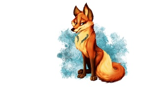 Picture animal, art, Fox, red, fox