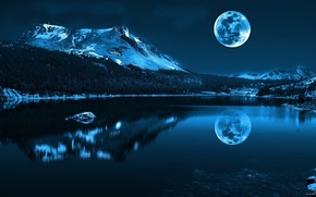 Picture space, the moon, landscapes