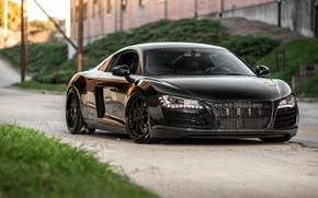Picture Audi, Black, Wheels, Avant-Garde, R8