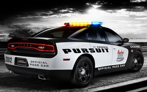 Picture Dodge, muscle car, Dodge, rear view, Charger, tribune, the charger, Muscle car, Pursuit, Pace Car