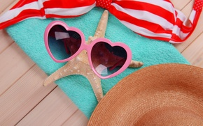 Picture sea, beach, summer, stay, star, glasses, summer, beach, sun, glasses, vacation, accessories