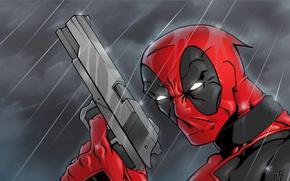 Picture Gun, Sword, Weapons, Deadpool, Marvel, Deadpool, Wade Wilson