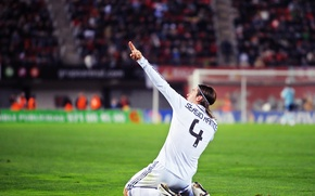 Picture people, gate, hairstyle, finger, arena, real, green, Ramos, Casillas, steward, traffic, banner