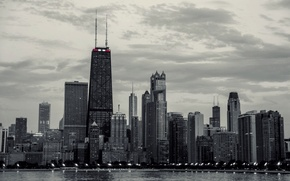 Picture building, skyscrapers, America, Chicago, Chicago, USA, skyscrapers