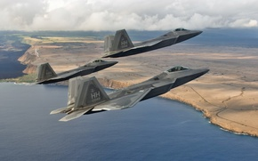 Picture weapons, aircraft, F-22 Raptors