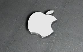 Picture apple, logo, white, brand